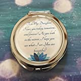 Remembered Gifts Compact Mirror With A Treasured Message for Special Occassions: Mother's Day, Birthday's, Christmas, Graduation, and Special Celebrations (Daughter)
