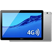 HUAWEI MediaPad T3 10 LTE, Tablet Wi-Fi+4G, 10.1 Inches, Qualcomm MSM8917 1.4 GHz, 2 GB, 16 GB, Android 7 Marshmallow, Gris Espacial, Negro