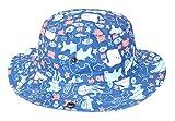Baby Hat Boys Girls Toddler Kids Play Sun Hats Bucket/Big Brim,Drawstring Adjust for 2-4 Years Blue