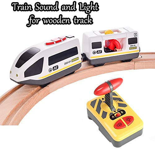 Choson Vic RC Electric Magnetic Train with Carriage Sound and Light Express Truck FIT (Train)
