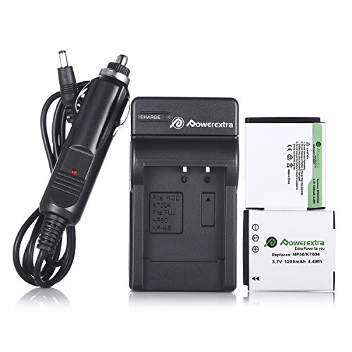 alcement Battery and Charger For Fujifilm NP-50 BC-50 BC-45W and Fuji FinePix F200EXR F75EXR F70EXR F100fd F60fd F50fd XF1 XP100 XP150 XP170 X20 F605EXR F660EXR F775EXR F900EXR (Np50 Replacement Battery)