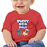 Ssuac Yi66 Puppy Dog Lovely Pals Baby Fashion Short Sleeve Tank Top Cotton T-Shirt Red 18 Months