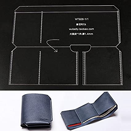WUTA Leather Simple Bifold Pattern Acrylic Template For Wallet Series WT928