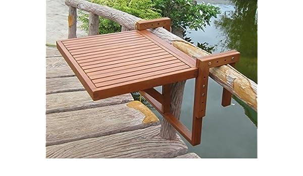 Mesa colgante para balcón, mesa plegable para el balcón barandilla ...