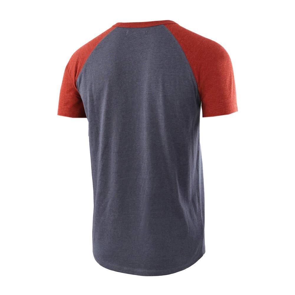 Meijunter Mens T-Shirt,Round Neck Short Sleeve Blouse Cotton Material Slim Tops