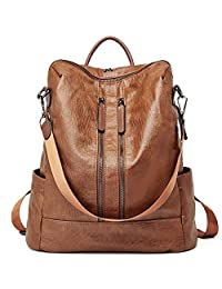Back to School Women Backpack Purse Leather Fashion Travel Large Casual Covertible Ladies Shoulder Bag