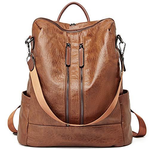 Women Backpack Purse Leather Fashion Travel Casual Detachable Ladies Shoulder Bag Brown