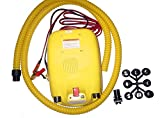 Portable 12V Electric Air Pump for Inflatable Boat, Inflatable Kayak and Paddle Board (No Battery)