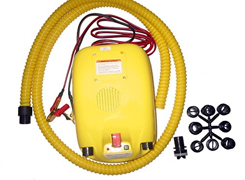(Portable 12V Electric Air Pump for Inflatable Boat, Inflatable Kayak and Paddle Board (No Battery))