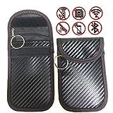 2 Pack Keyfob RFID Signal Blocking Bag for Faraday Cage,Car Key Signal Blocker Case,Anti-hacking Assurance For Wireless Car Keys, KeyFOBs, Keyless Entry, Car Key Remotes, Credit Card Protection