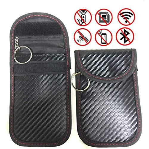 2 Pack Keyfob RFID Signal Blocking Bag for Faraday Cage,Car Key Signal Blocker Case,Anti-hacking Assurance For Wireless Car Keys, KeyFOBs, Keyless Entry, Car Key Remotes, Credit Card Protection
