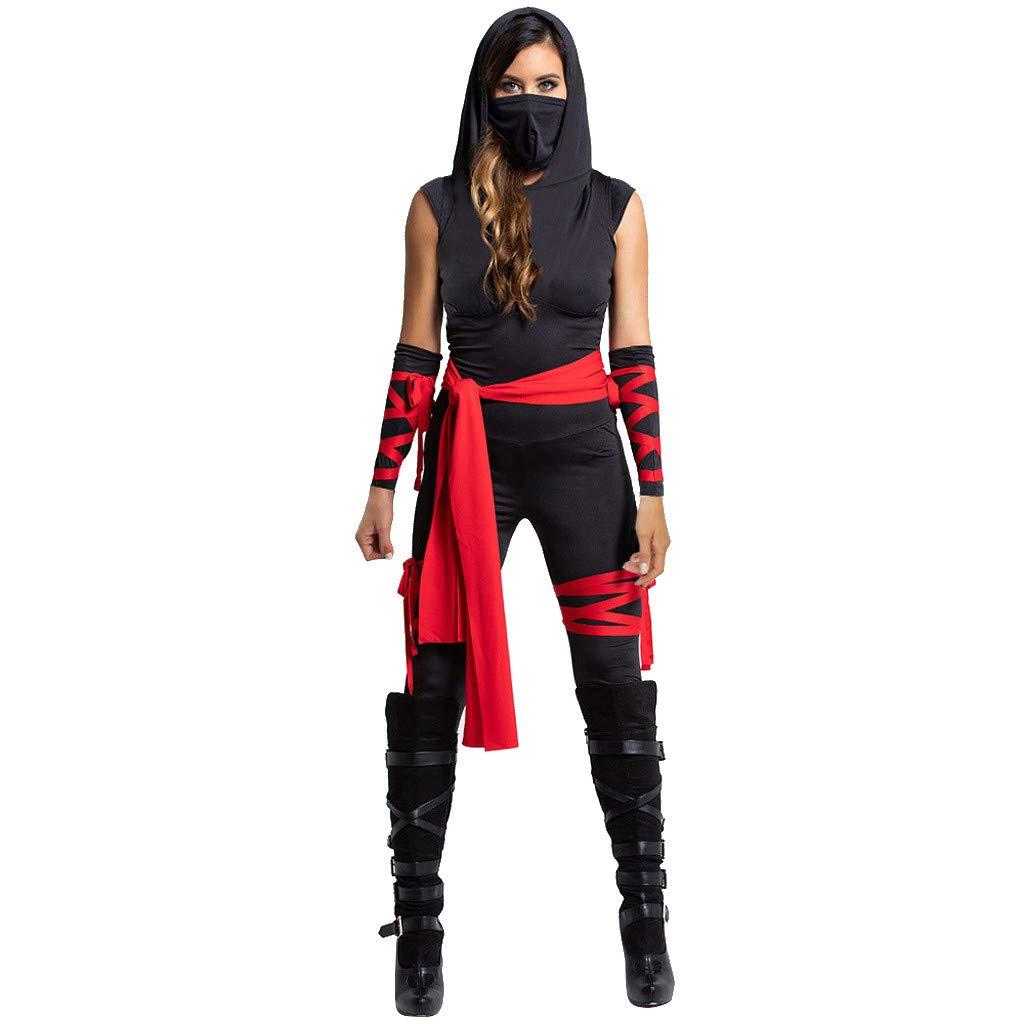 Amazon.com: Mlide Womens 4 Piece Deadly Ninja Costume ...