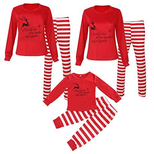 Family Matching Pajamas Adult Baby Cotton Stripe Nightwear Family PajamaGram]()