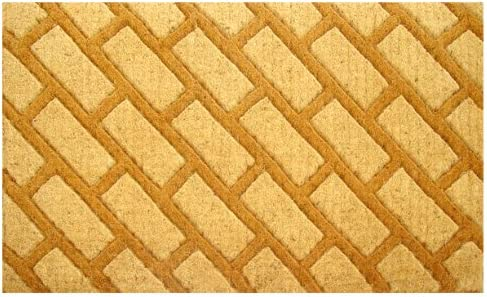 Imports Decor Coir Doormat, Diagonal Bricks, 18-Inch by 30-Inch