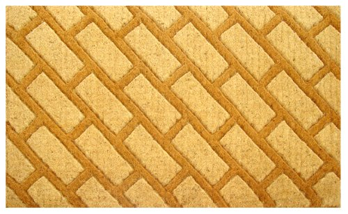686 Bricks (Imports Decor Coir Doormat, Diagonal Bricks, 18-Inch by)