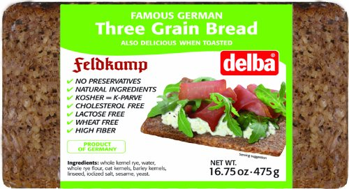 (Delba Famous German Three Grain Bread, 16.75 Ounce (Pack of 12) )