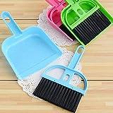 Slendima 1 PC Mini Plastic Hand Kitchen Dustpan and Brush Set Home Desk Cleaning Sweeper Tools
