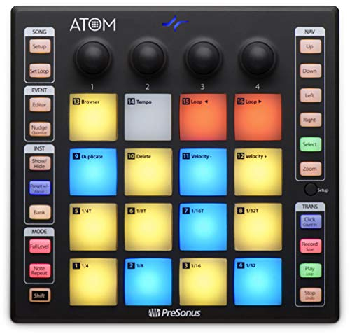 - PreSonus ATOM Production and Performance Pad Controller with Studio One Artist Software