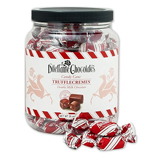 Canes Gourmet Candy (Candy Cane TruffleCremes in Double Milk Chocolate - 28oz Jar - by Dilettante)