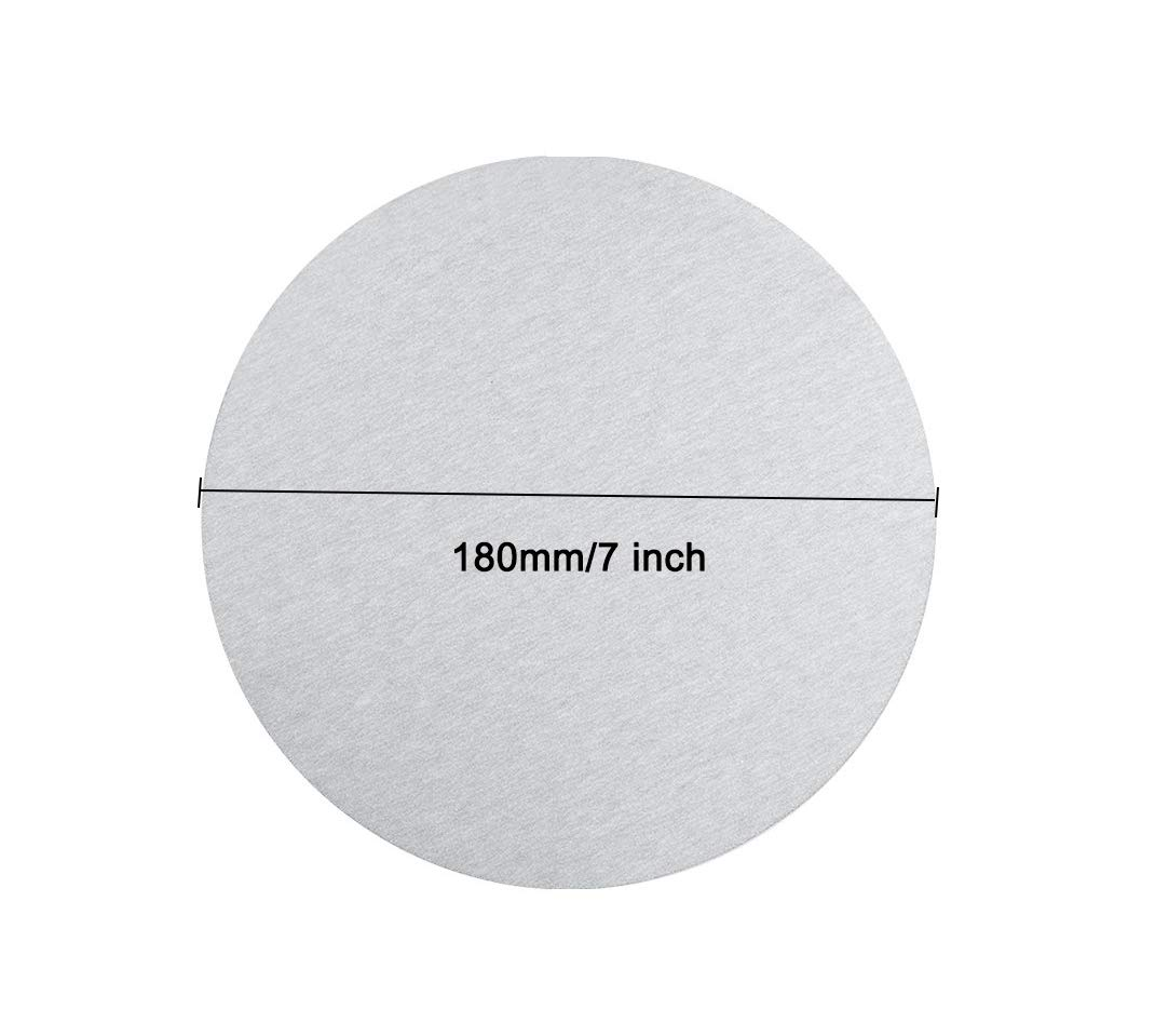 30Pcs YXQ 600Grit Sanding Discs 7 inch No Hole Aluminum Oxide White Dry Sandpaper Flocking Adhesive