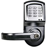 Linear 212LS-C26DCR-LT Electronic Access Control Cylindrical Lockset, Left Hand Opening (Stainless Finish)