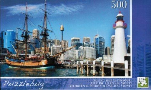 Puzzlebug 500 piece Jigsaw Puzzle; Sailing Ship Endeavour by LPF