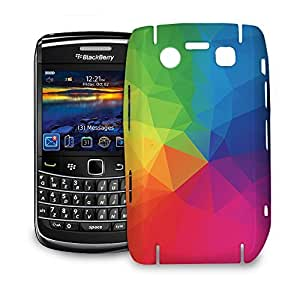 Phone Case For BlackBerry Bold 9700 - Rainbow Geometric Shapes Snap-On Back