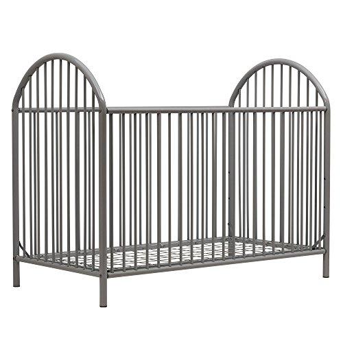 Dorel Baby Cribs - Novogratz Prism Metal Crib, Grey