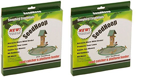 (Songbird Essentials SEIA30024 Seed Hoop Seed Catcher & Platform Feeder (Pack of 2))