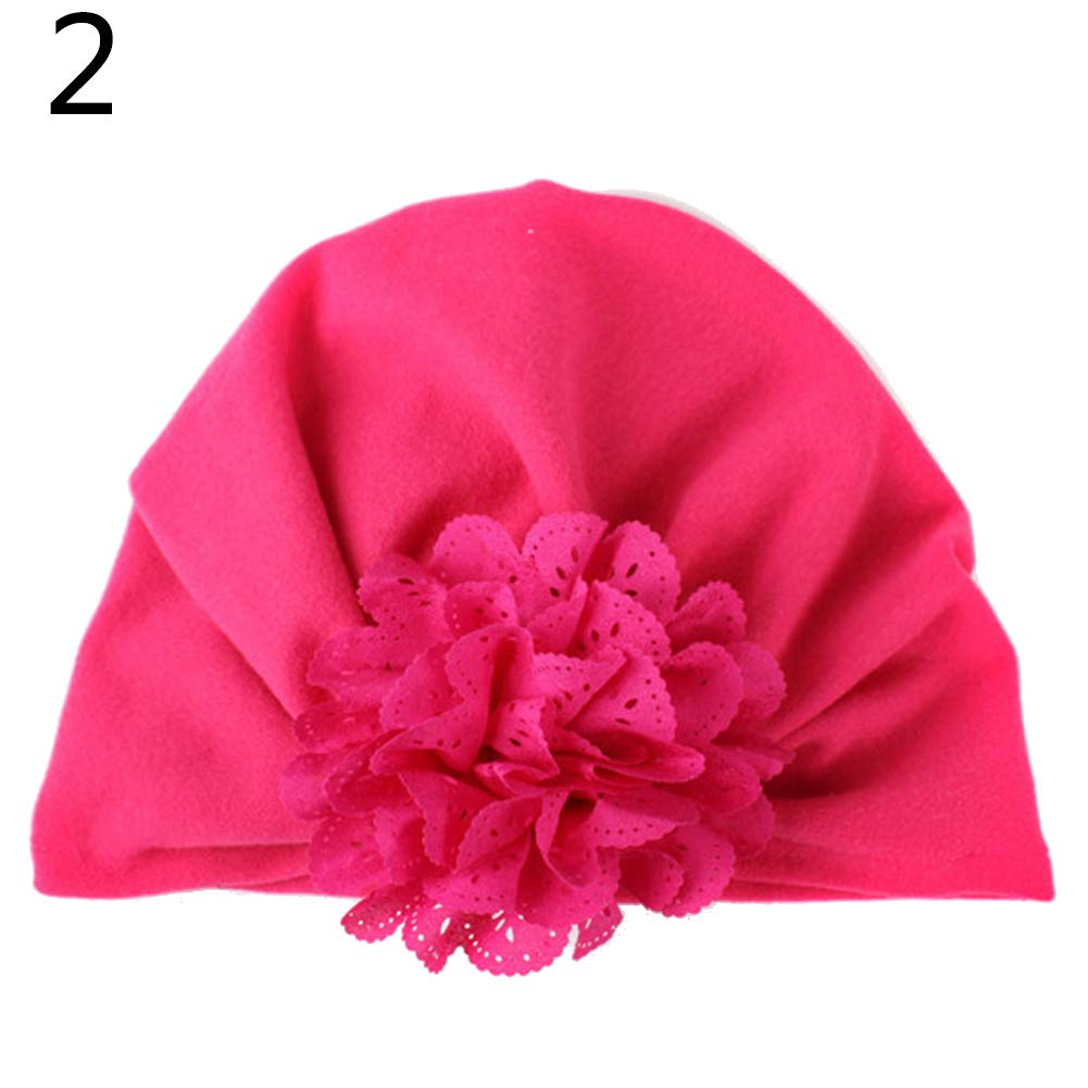 Himpokejg Fashion hat,Toddler Baby Girl Hollow Floral Soft Solid Color Beanie Hat Elastic Turban Cap