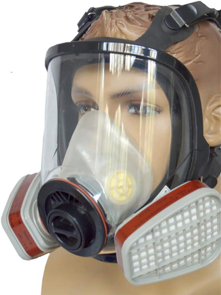 Dsti Cara Completa Silicona Filtro Paintball Militar Táctico De Transpiración Máscara De Protección Facial con Ventilador para Gases Orgánicos Y Vapor Benzofenona Disulfuro De Carbono
