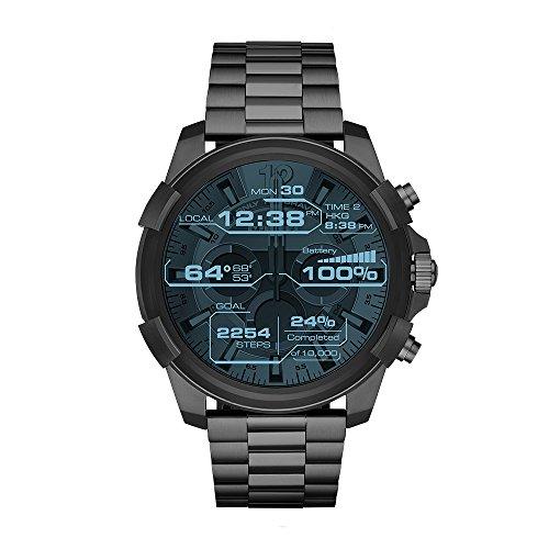 Bracelet Dial Watch Link (Diesel On Full Guard Touchscreen Gunmetal Stainless Steel Smartwatch DZT2004)