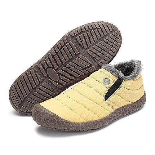 Minetom Herren Damen Sport Winterschuhe Warm Gefütterte Trekking Outdoor Boots Stiefelette Outdoor Schneestiefel Winter Schneestiefel Schuhe B Gelb