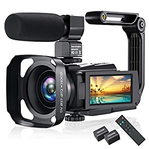 Flashandfocus.com 515-Q6VfDmL._SS300_ 4K Video Camera Camcorder, Vlogging Camera 48MP 60FPS YouTube Camera WiFi Night Vision IPS Touch Screen Video Camera…