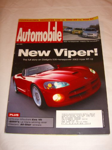 Automobile Magazine V. 12 #5 May 2001 New Viper