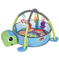 Baby Learning Mat -Baby Mat Activity Mat Learning Mat Baby Crib Soft Playing Mat for Baby,Baby Fitness Mat, Marine Ball, Baby Play Mat Baby Fitness Center,Early Education Gift [Ship from USA Directly