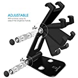 Multi-Angle Stand for Nintendo Switch, Lamicall Playstand : Cell Phone Tablet Video Game Holder Dock For iPhone 7 6 Plus 5 5c, Accessories, iPad and Tablets (4-10'') Foldable Adjustable Desk - Black