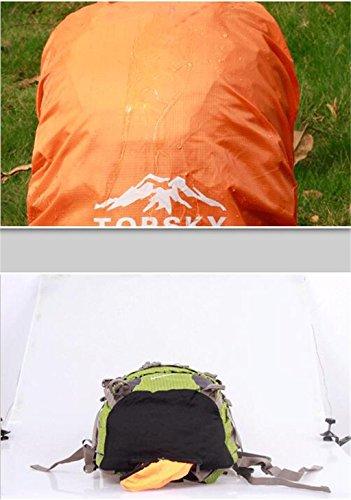 Outdoor uomini borsa arrampicata e sacchetto di spalla delle donne zaino esterno di grande capacità 40L 50L 60L ( colore : The Dark Green , dimensioni : 60l )
