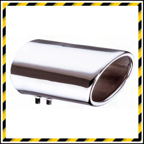 E-TECH DYNAMIC OVAL STAINLESS STEEL EXHAUST TIP 55-80mm
