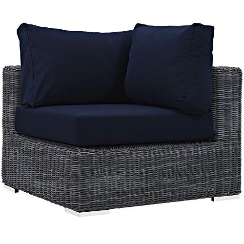 Sunbrella Navy Loveseat: Modway Summon Outdoor Patio Sofa Sectional Corner With