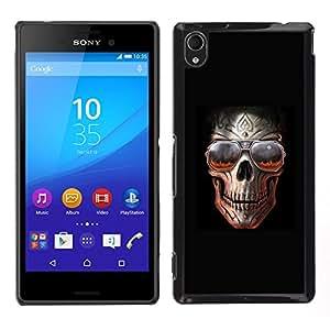 """For Sony Xperia M4 Aqua Case , Roca Cráneo Negro Sombras frío metal Infierno"""" - Diseño Patrón Teléfono Caso Cubierta Case Bumper Duro Protección Case Cover Funda"""