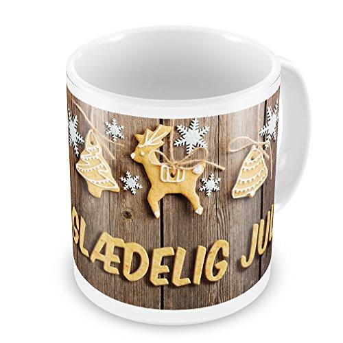 Coffee Mug Merry Christmas in Danish from Denmark, Faroe Islands - Neonblond