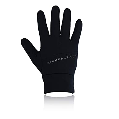 Black Sports Breathable Reflective Higher State Unisex Running Gloves