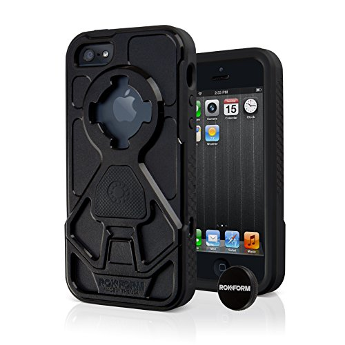 Rokform Rokshield iPhone 5/5s/SE Dual Layer Protective Case and Universal Magnetic Car Mount. Made in USA (Black)