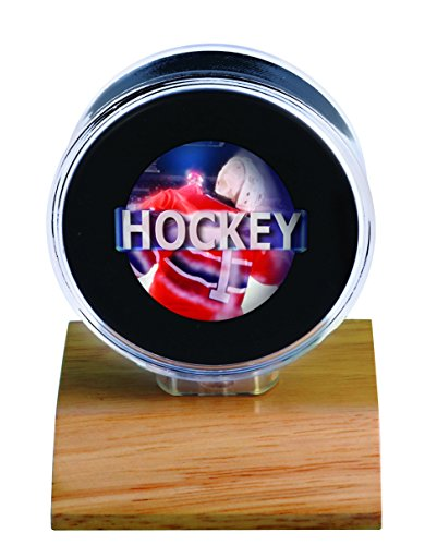 NHL Light Wood Puck Holder, Small, (Nhl Display Cases)