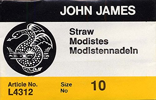 Colonial Needle 25 Count John James Milliners/Straw Uncarded Needles, Size 10 (L4312-10) Colonial Needle Co