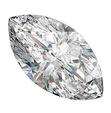 Neerupam Collection Blanc Zircone Cubique AAA Qualité Diamant Coupe Marquise Forme gemme NC-CZ-MQ-2.5X5