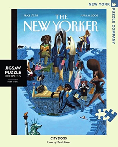New York Puzzle Company - New Yorker City Dogs - 1000 Piece Jigsaw Puzzle
