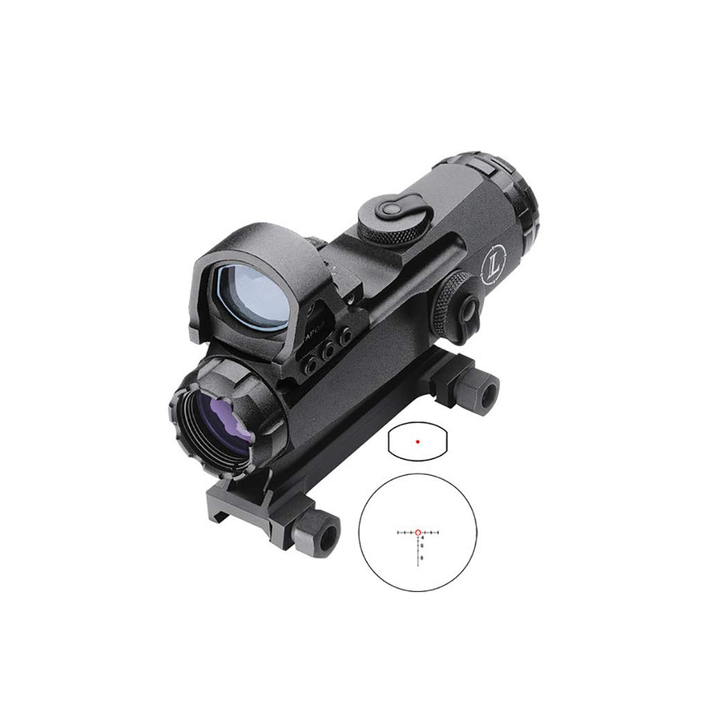 Micro Red Dot Sight,Adjustable Brightness Settings Reddot Gun Scope 4X24 Rifle Scope Lens Red Dot Mark 4 High Accuracy Multi-Range Riflescope by MOQiany