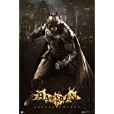 Batman Poster The Arkham Knight Gotham Skyline (61cm x 91,5cm) + 1 pack tesa powerstrips®, 20 pieces